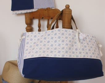 Tote Bag and Matching Pouch *BLUE SUMMER*