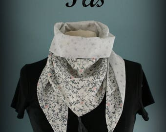 Headscarf triangle bandana Grey Star