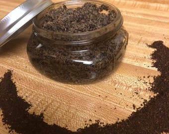 Exfoliating Whipped Coconut Coffee Sugar Body Scrub - Organic Virgin Coconut Oil, Sugar & Coffee Grounds