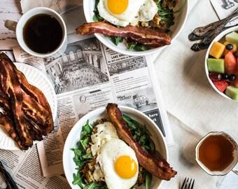Food Photography, Brunch, Food Art, Still Life, Breakfast Table, Home Decor, Kitchen Art, Wall Art, Restaurant Decor
