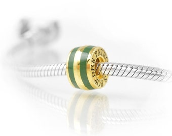 Thin Line® Border Patrol Charm, Elegant Vermeil Gold on Sterling Silver