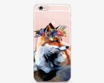 Cute Fox Phone 7 Plus Case Phone 6 Phone iPhone 6s Plus Phone Case 6 Plus Phone 5 Case Phone 5s Case Phone SE Case S7 Galaxy Edge AC1056