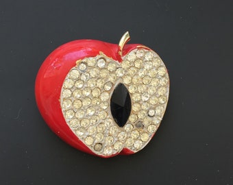 Vintage Signed Weiss Apple Brooch