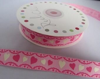 Pink Heart Ribbon