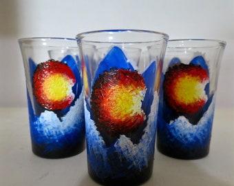 Hand-painted Colorado Shot Glass