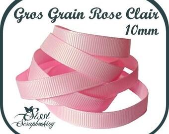 grosgrain Pink Ribbon light scrapbooking sewing card