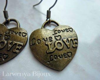 Earrings - the basics - hearts LOVE