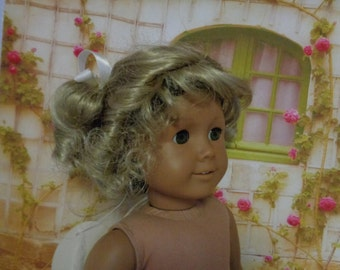 Blond 14-15 Inch Doll Wig-  -Shown on my American Girl Doll