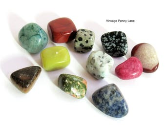 Various Polished Stones, Minerals, Agates, Tumbled Rocks