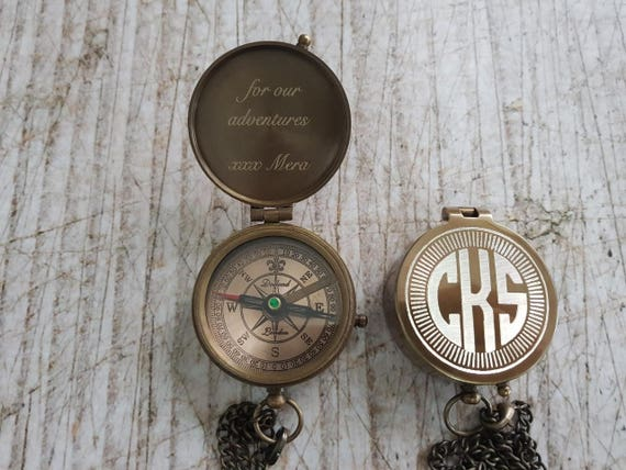 To keep dad from wandering and always knowing his way home when he does, this engraved compass is so awesome...