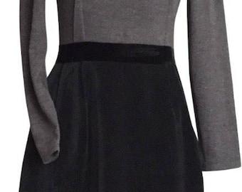 VINTAGE LANVIN Paris little black dress size S