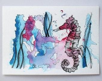 Endangered: Seahorse #1, Original drawing