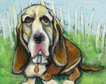 Hound Dog- giclee on watercolor paper