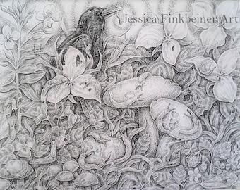 """Print of """"Slug Plague"""" by Jessica Finkbeiner"""