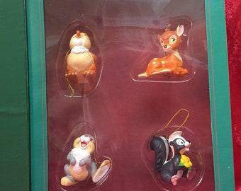Bambi Box Set of Holiday Ornaments - Official Disney Memorabilia