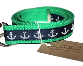 Children's Green Anchor Belt