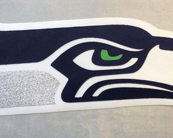 Huge Seattle Seahawks Iron On Patch