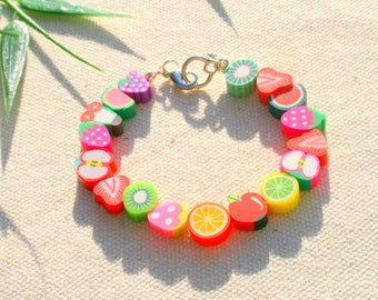 Very colorful fruit Beads Bracelet