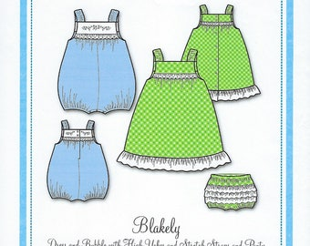 Bonnie Blue Pattern #155 / BLAKELY / Sizes 6 mo - 24 mo and 3 yr