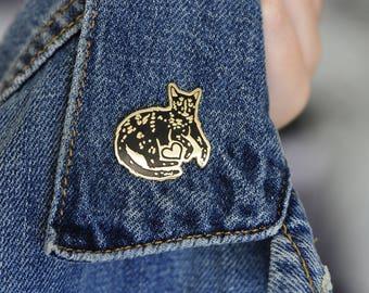 Heart Cat Enamel Lapel Pin