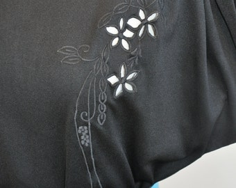 Brilliant Black 80's Cutout Dress