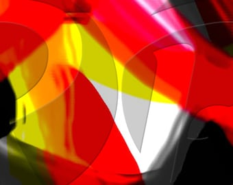 Colors Abstract - Digital Art print - Horizontal