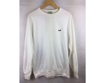 CROCODILE Long Sleeve Sweatshirt Pull Over Medium Size