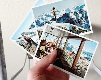Vintage Postcards Getmany Alps Snow Covered Mid Century 1960s Bayerische Zugspitzbahn