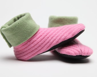 Waldorf Slipper Socks, Toddler Small, Winter Booties, Size 2-3, Fits 12-18 Months, Winter Shoes, Grippy, Machine Washable, Ready to Ship