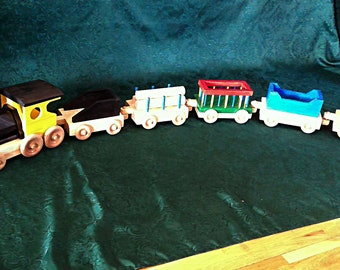 Toy Train  Wood  60 inches long    All non toxic finish