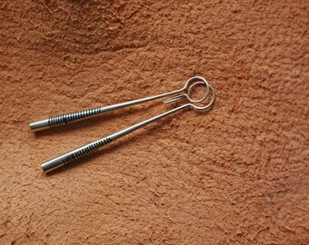 Tuareg Silver Earrings  African Ethical Saharan Handcrafted