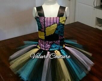 Inspired Tutu Dress Costume Infant Toddler Girls Baby Newborn Halloween Birthday Outfit Black Turqoise Lavender Yellow