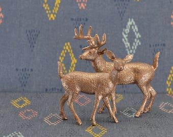 Deer Cake Topper Figurines - Rose Gold