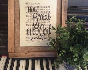 How Great Thou Art   Hand Painted Sign   hymn