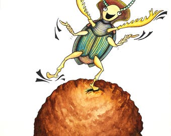The Dancing Dung Beetle!