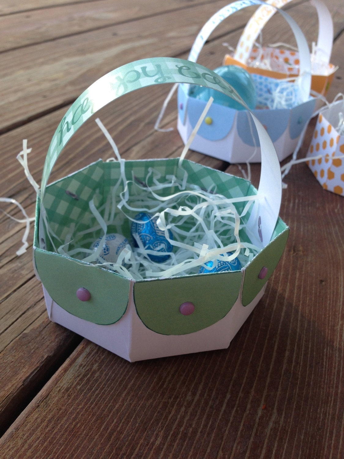Instant download diy printable easter basket gift box paper zoom negle