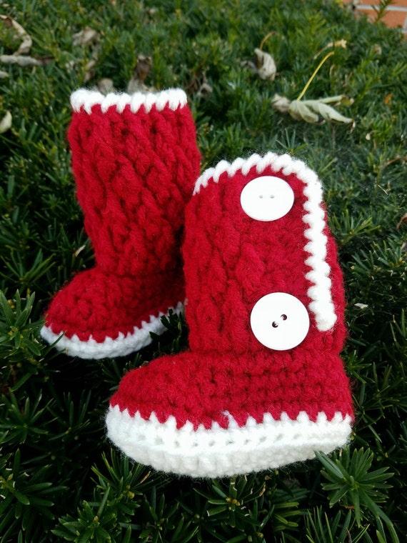 Christmas Baby Boots, Baby Booties Boy Girl, Newborn Booties Boy Girl, First Christmas Outfit Boy Girl Newborn, Baby Santa Booties Boots