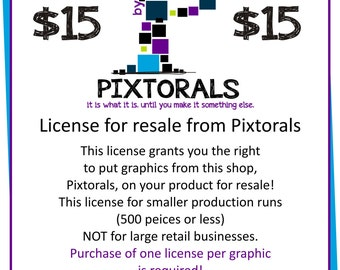 License for Resale or Commercial use from Pixtorals