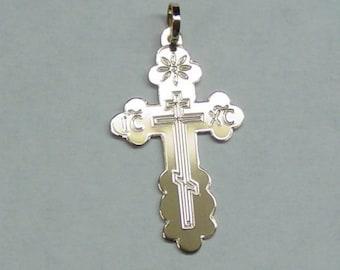 Orthodox cross, 14k solid gold 24mm high