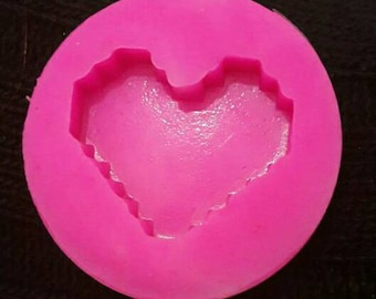 Soft HEART silicone mould of MINECRAFT.