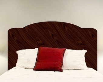 Mahogany Headboard Wall Decal Headboard For The Bedroom Wall Design Bed Wall  Stickers Dark Wood Headboard