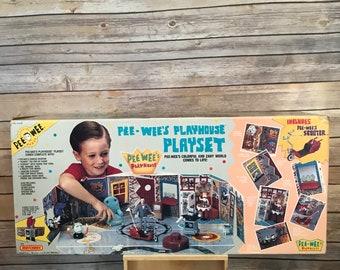 Vintage Pee-Wee's Playhouse Play Set