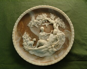 """Solid Incolay Stone Plate """"Romantic Poets"""" Series – A Thing of Beauty is a Joy Forever 1978"""