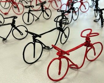 Miniature wire bike, handmade gift for birthday parties, business present