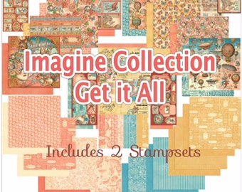 PREORDER Graphic 45 Imagine Get It All Complete Bundle-Ships Free