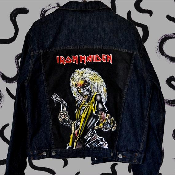 Iron painted Maiden clothing denim handpainted jacket aZqScWra1
