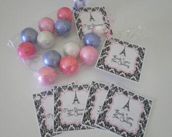One Dozen Paris Treat Bag Kits! - Create Fun Colorful Party Favors Ooh LaLa! - Paris Theme Birthday