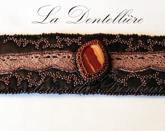 """""""The Lacemaker"""" embroidered cuff"""