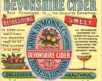 Devonshire Cyder Vintage Advertising - Art Print