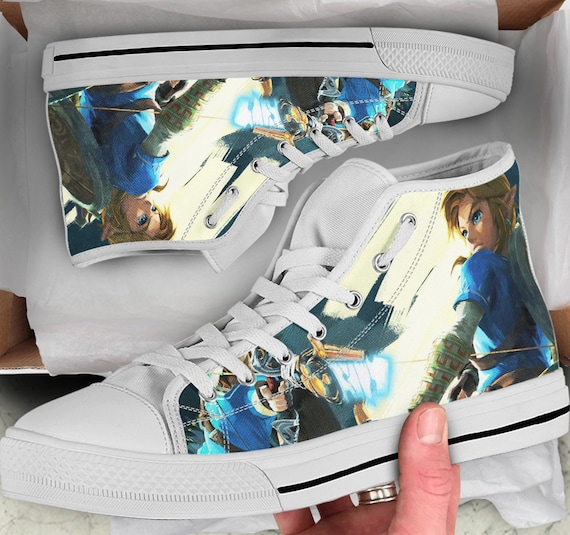Tops sneakers Men's Breath of of Looks Top High Shoes Converse Shoes the legend wild Women's high Sneakers Zelda like The Shoes Colorful pg47vwnq7